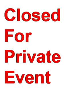 Private Event Poster